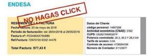 Envíos fraudulentos con avisos de Endesa