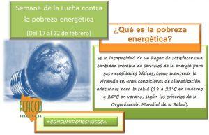 Del 17 al 22 de febrero. Semana de la Lucha Contra la Pobreza Energética